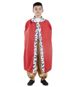 Capa Rey Roja con Estampado Infantil