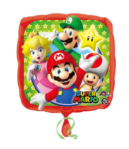 Globo cuadrado de Super Mario Metalizado 45cm