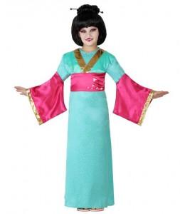 Disfraz de Geisha Azul Infantil