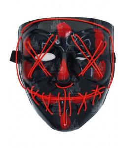 Mascara Asesino Purgador con Luz Led Roja