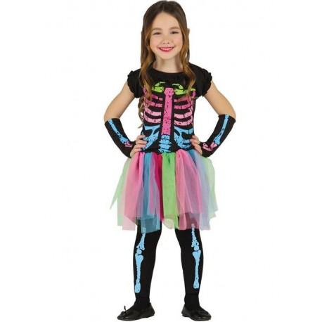 Disfraz de Esqueleto Colores Infantil