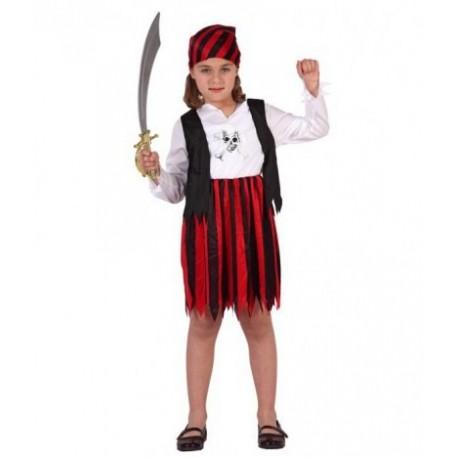 Disfraz de Piratesa Rayas Infantil