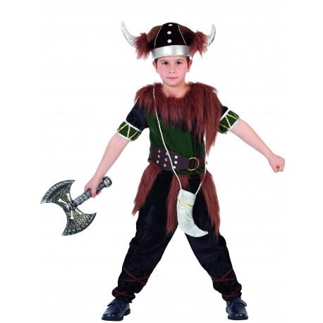 Disfraz de Vikingo Verde Infantil
