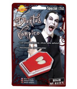 Colmillos de Vampiro con Pegamento