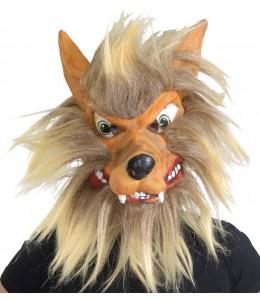 Mascara de Lobo con Pelo