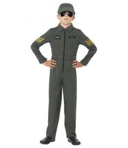 Disfraz de Aviador Verde Infantil.