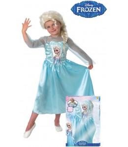 Disfraz de Elsa de Frozen con Peluca Infantil