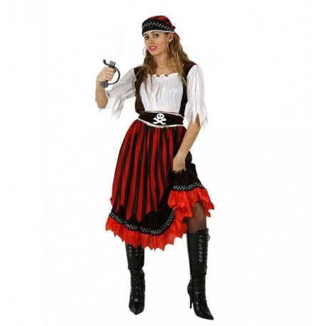 Disfraz de Piratesa Rayas