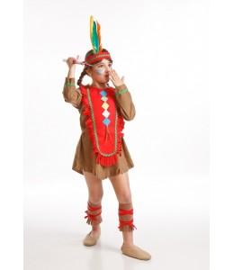 Disfraz de India Roja Infantil