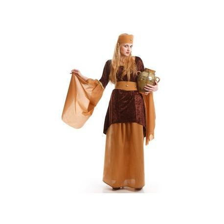 Disfraz de Dama Medieval Marron