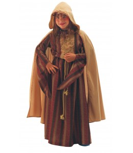 Disfraz Dama Medieval con Capa Infantil