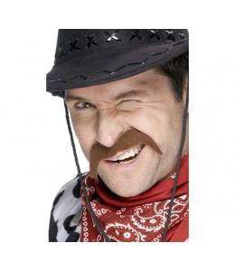 Bigote de Cowboy Castaño