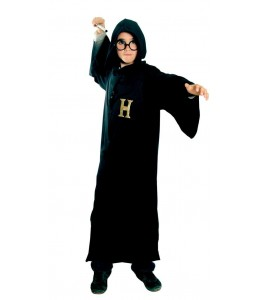 Disfraz de Mago Estudiante Capa Infantil
