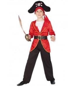 Disfraz de Pirata Rojo Infantil