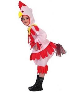 Disfraz de Gallina Rosa Infantil