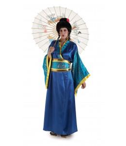 Disfraz de Geisha Azul