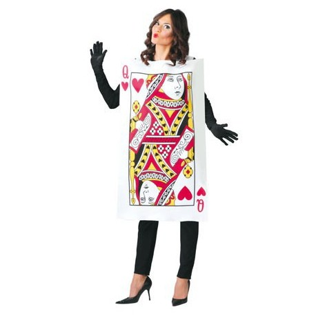 Disfraz de Carta Reina de Corazones