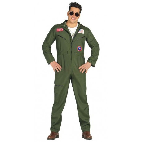 Disfraz de Aviador Verde