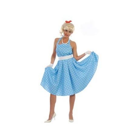 Disfraz de años 50 azul