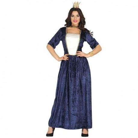 Disfraz de Dama Medieval Azul