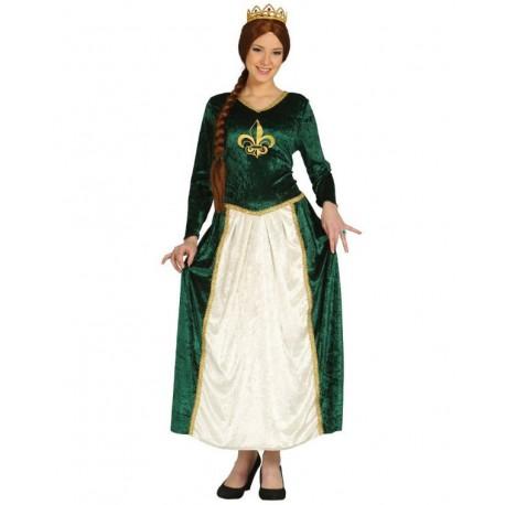 Disfraz de Reina Medieval Verde