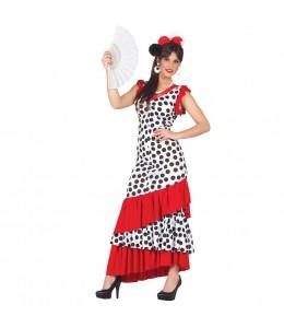 Disfraz de Flamenca Blanca y Negra
