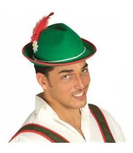 Sombrero Tiroles con Flor