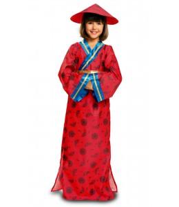 Disfraz de China Azul Infantil