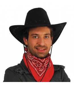 Sombrero Vaquero Tejano Negro