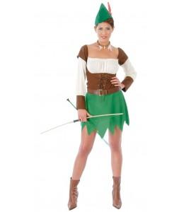 Disfraz de Arquera Robin Hood Chica