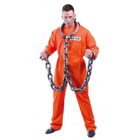 Disfraz de Convicto Naranja
