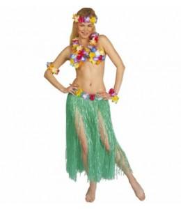 Falda Hawaiana Larga Colores
