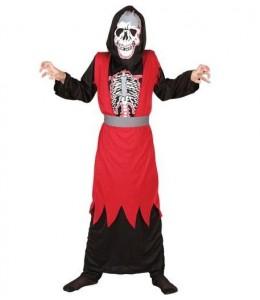 Disfraz de Esqueleto Rojo Infantil