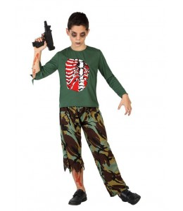 Disfraz de Zombie Militar Infantil