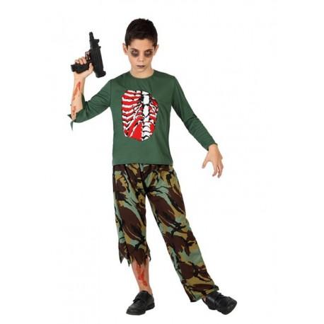 De Disfraz Por Infantil Solo Comprar 00 16 Militar Zombie 1gqx55wTU