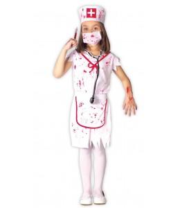 Disfraz de Zombie Enfermera Niña