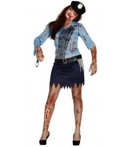 Disfraz de Policia Zombie Chica
