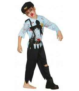 Disfraz de Zombie Policia Niño