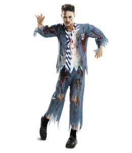 Disfraz de Zombie Estudiante Hombre