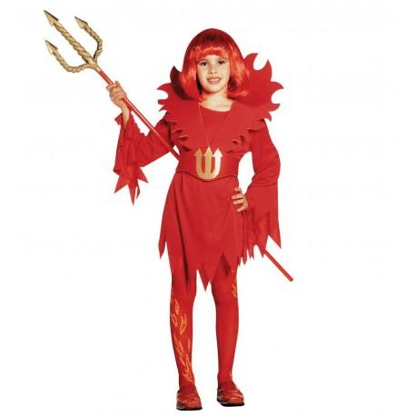 Disfraz de Diablesa LLamas Infantil