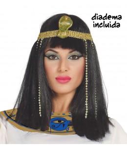 Peluca Melena Cleopatra con Diadema