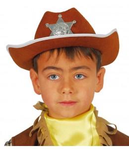 Sombrero Vaquero con Estrella Infantil