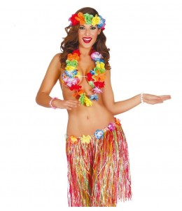 Conjunto Hawaiano con falda