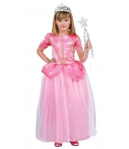 Disfraz de Princesa Rosa de Baile Niña