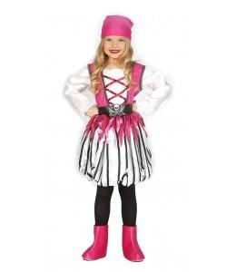 Disfraz de Pirata Rosa Infantil