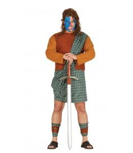 Disfraz de Guerrero Escoces Verde
