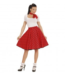 Falda de Lunares Roja