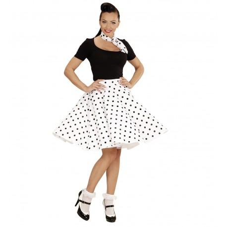 6b6c880915b Comprar Falda Blanca lunares negros por solo 19.50€ – Tienda de ...