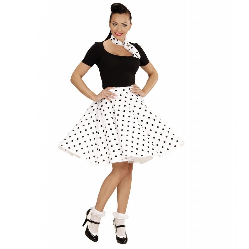 Lunar falda blanca y rosa - 1 8