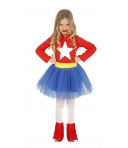 Disfraz de Capitana Estrella Chica Infantil